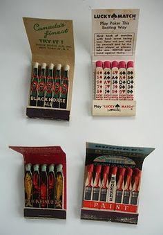 matchbook, design, vintage