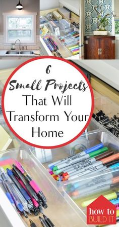 6 Small Projects That Will Transform Your Home Easy Diy Crafts, Diy Home Crafts, Easy Diy Projects, Home Projects, Diy Home Decor, Fun Diy, Decor Crafts, Craft Projects, Room Decor