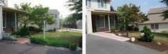 Before and After: Front patio and garden