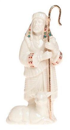 Lenox China Jewels Nativity Porcelain Shepherd with Staff