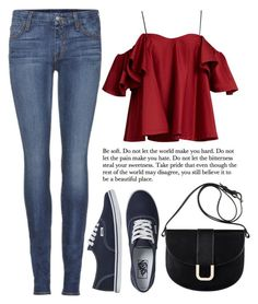 """""""Street Style"""" by mari-marishka ❤ liked on Polyvore featuring Anna October, Koral, A.P.C. and Vans"""