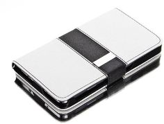 myLife Black and White {Classic Design} Faux Leather (Card, Cash and ID Holder + Magnetic Closing) Slim Wallet for Galaxy Note 3 Smartphone ...