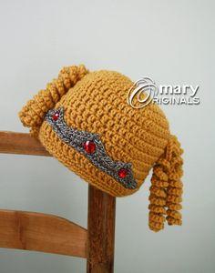 990f441cfa6 Princess Hat Princess Crown Crochet Beanie Blonde Wig Hat