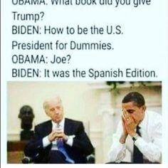 Biden Trump Memes, Obama And Biden, Joe Biden, Funny Relatable Memes, Funny Posts, Funny Quotes, Funny Political Memes, Funny Politics, Political Cartoons
