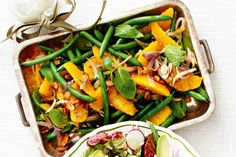 Green bean salad with orange and mint main image