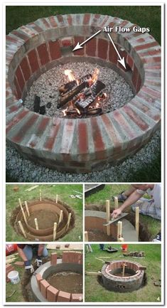 30 Amazing DIY Backyard Fire Pits Design Ideas - Fire Pit - Ideas of Fire Pit - Forno e churrasqueiras Garden Fire Pit, Diy Fire Pit, Fire Pit Backyard, Backyard Pergola, Pergola Ideas, Diy Patio, Pergola Kits, Outdoor Fire Pits, Backyard Seating