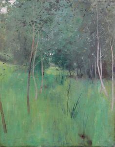 ~ Abbott Handerson Thayer - Meadow and Trees, oil on canvas.  via The Cooley Gallery