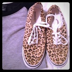 Leopard print sneakers Worn once! Super cute & casual. I'm not much of a sneakers girl. H&M Shoes Sneakers