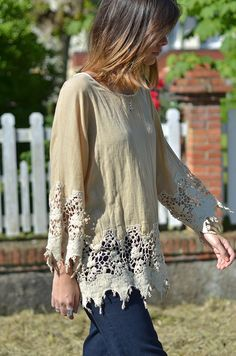 Just add lace - love this look.