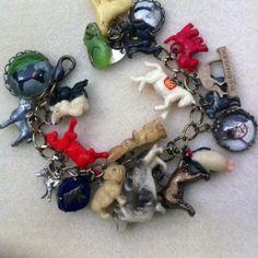 love these vintage dog bracelets by Paula Montgomery