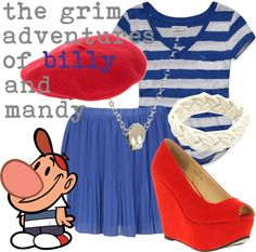 """Billy - The Grim Adventures of Billy and Mandy"" by lilyelizajane on Polyvore"