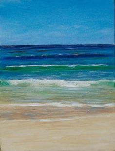 how to paint a sea scape   Lazy Wave