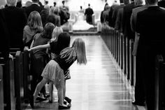 This was me when my sister was coming down the aisle!!! I couldn't see her from the front of the church!