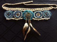 Your place to buy and sell all things handmade Tribal Fusion, Boho Gypsy, Yin Yang, Hand Crochet, Knit Crochet, Belly Dance Belt, Hippie Jewelry, Festival Wear, Dance Wear