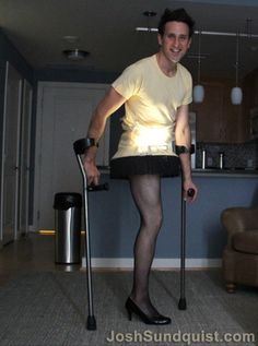 Josh Sundquist, best-selling author, Paralympic ski racer, and a cancer survivor who lost his leg at age 9, decided to make the most of his assets and create the best Halloween costume ever.