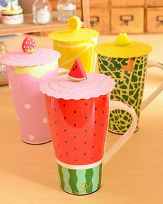 $5.82 Obediently cat cute creative fruit shape mug ceramic cup large capacity water cup with lid-ZZKKO