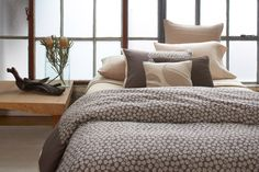 Never before have form and substance come together so beautifully.  Our Circle Bark Bedding Collection has a design that is inspired by nature, in this case, aerial views of the American landscape - and is made from the softest, most luxurious organic supima cotton. Our organic cotton is certified by the Global Organic Textiles Standard and meets Oeko-Tex standards.