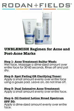 Unblemish Regimen   Don't let your teens go back to school with acne!  www.kbruening.myrandf.com
