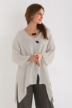 Willow Tunic by Carol Turner: Linen Tunic available at www.artfulhome.com