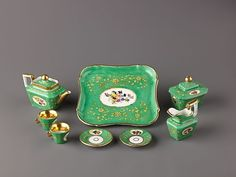 Miniature Tea Set: Tea Sets, Miniature Teasets, Porcelain, Dollshouse, Metropolitan Museum, Miniatures Teapots, Miniatures Dollhouses, Dollhouse Miniatures, Miniature Tea Set