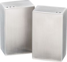2-piece stainless steel salt and pepper shaker set  | CB2