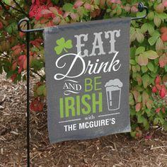 Personalized Irish Welcome Garden Flag