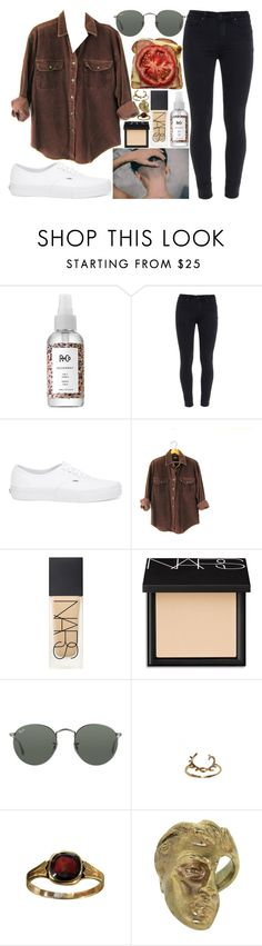 """""""become an actual person"""" by velvet-ears ❤ liked on Polyvore featuring R+Co, Paige Denim, Vans, NARS Cosmetics, Ray-Ban and Yunus & Eliza"""