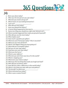 365 questions September - for 5 year journal - would be interesting to add into journaling for project life. 365 Questions, Journal Questions, This Or That Questions, 5 Year Journal, Bullet Journal, My Journal, Journal Pages, Journaling, Bujo