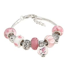 @Overstock - These stunning beaded charm bracelets are an elegant fashion accessory that beautifully complements almost any casual wear. The high polish finish and the Murano-inspired glass beads take the bracelets to a whole new level of sophistication.http://www.overstock.com/Jewelry-Watches/La-Preciosa-Glass-Pink-and-White-Bead-Charm-Bracelet/6045119/product.html?CID=214117 $16.99