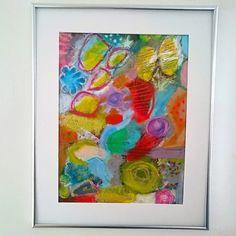 original abstrakte Malerei Mixedmedia Acrylbild von SuseundMuse