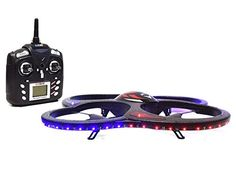 Drone with Camera Ei-Hi Night Vision 2.4GHz 6.5 Channel 6 Axis Gyro LED Lights