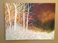 Abstract landscape, done in acrylic 30x40. By Yasmin Hasnain.