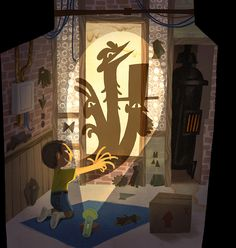 Concept paintings for cancelled stop motion... - Katy Wu