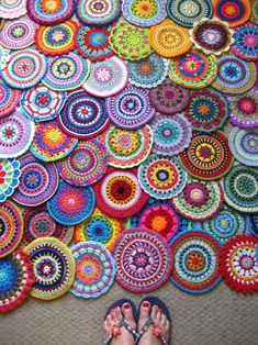 Mandalas for Yarndale 2014 in Skipton in the UK this September. Fantastic project to create the largest art display of crocheted mandalas ever - 500 done by people all over the world so far :) Open until the end of the month