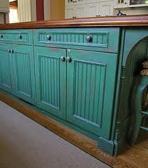 Thinking about painting the cabinets like this...