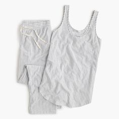 Drapey striped pajama set
