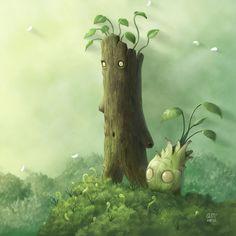 Plant Folk by AndrewMcIntoshArt.deviantart.com on @deviantART