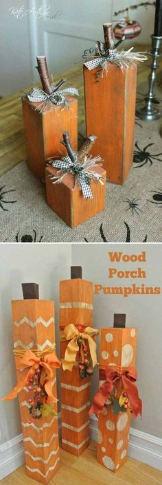 How to make a wood pumpkin.