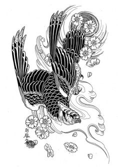 Resultado de imagen de 100 Japanese Tattoo Designs I By Jack Mosher Aka Horimouja Japanese Tattoo Symbols, Japanese Tattoo Art, Japanese Tattoo Designs, Japanese Sleeve Tattoos, Tatuajes Tattoos, Kunst Tattoos, Irezumi Tattoos, Falke Tattoo, Rite De Passage