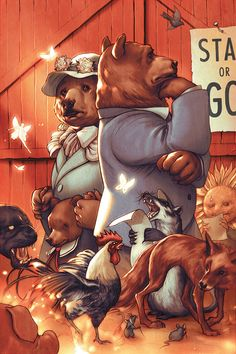 James Jean. Fables    One of my favorite comic covers of all time comes from this guy, for the second trade of FABLES.