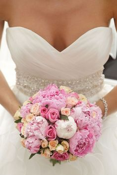 10 ways to include peonies in your wedding day | Pink peony bouquet | bridemagazine.co.uk