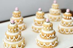 Gold Miniature Wedding Cakes