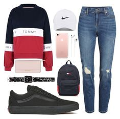 """Untitled #103"" by kendra-adame ❤ liked on Polyvore featuring Tommy Hilfiger, BLANKNYC, Vans, NIKE, Apple, Michael Kors and Casetify"
