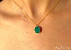 Dainty druzy necklace. Dainty jewelry. Women's jewelry sold by M & C Kouture https://squareup.com/store/mckouture