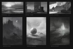ArtStation - Thumbnails - Emotions & Shape Language, Andy Walsh