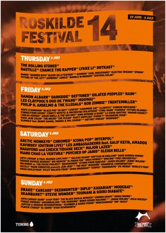 Day-by-Day Roskilde Festival 2014 poster