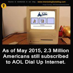 Still AOL has 2.3 million American Subscribers