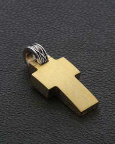 Χειροποίητος Σταυρός Κ18 Men's Jewelry, Jewelery, Christian Symbols, Gold Cross, Crosses, Christianity, Usb Flash Drive, Cufflinks, Lord