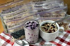 DIY Healthy Instant Oatmeal Packets to use for making hot or refrigerator oatmeal. So easy & convenient! from TheYummyLife.com