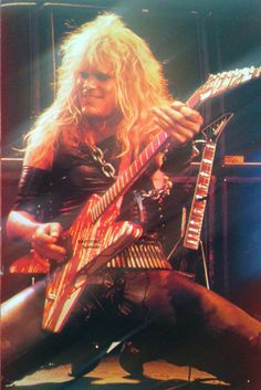 Mean Man Chris Holmes in W.A.S.P. #ChrisHolmes #wasp #MeanMan